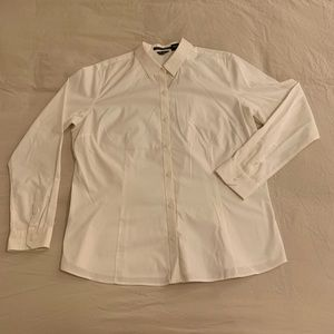 Eddie Bauer white long sleeve button down size XL